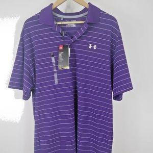 Under Armour Men's Heat Gear Polo Shirt Size XL